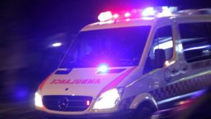 ambulance officer was allegedly punched in the chest