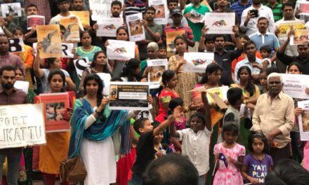 Jallikattu ban: Tamil community holds silent protest in Brisbane