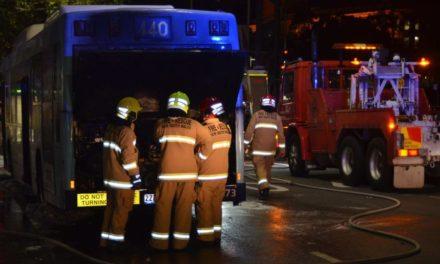 Highway shut as electrical fault sends molten metal flying across Sydney street