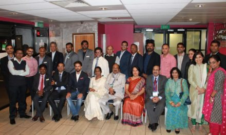 Indian delegates welcomed by FICQ and High Commission of India