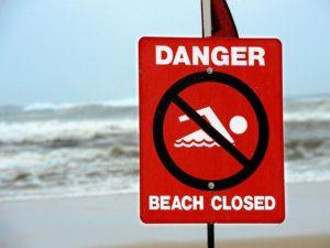 seven Sunshine Coast beaches closed