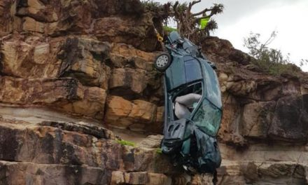 Woman survives after car crashes 15 metres down Sunshine Coast cliff