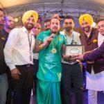 Jazzy b with Perbender Hayer, Amninder Bhullar, Deepinder Singh and Jaswinder Ranipur Stage Sanchalak.