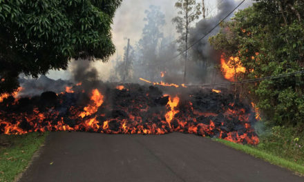 Fast flowing lava from Hawaii's volcano threatens to trap residents
