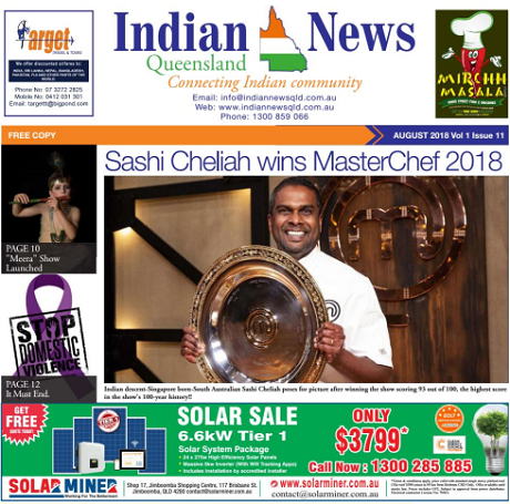 Indian News Queensland – August 2018 Vol 1 Issue 11