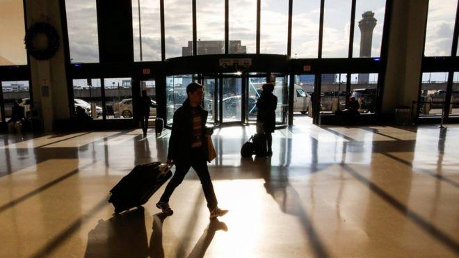 Drone sighting disrupts major US airport