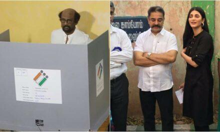 Lok Sabha Elections 2019: Rajinikanth Kamal Haasan and Ajith Cast their Vote