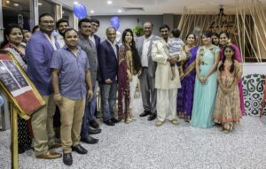 Dr. Ram Mohan, President, Federation of Indian Communities of Queensland, Prof. Prasad Yarlagadda, former President and Patron of FICQ and others during the inauguration ceremony