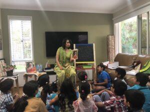 Teacher telling stories in Northside