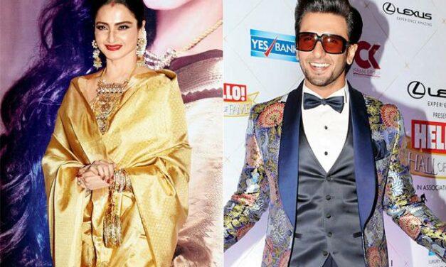 Rekha Praises Ranveer Singh, Says He Truly Inspires Her