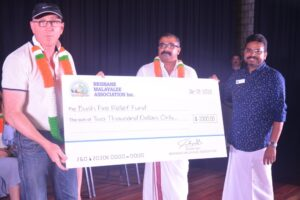BMA members handing over $2000 cheque towards Bushfire Relief Fund to Mr. Luke Howarth (left), Federal MP, Petire Electorate