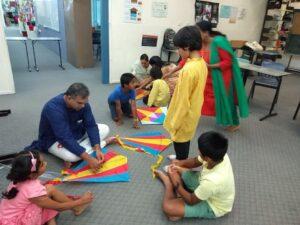 Preparation for kite flying
