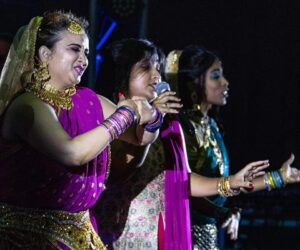Dancers during their act on stage
