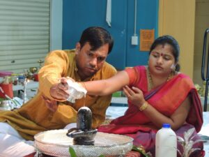 Phaneendra and Saranya Gari generously donated $1000 to SKED temple on Shivaratri