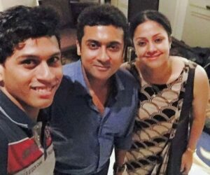 Southern superstar Suriya has shared a happy selfie with his actress-wife Jyothika. Suriya on Wednesday took to Instagram to share an adorable photograph of himself with Jyothika. The two are seen looking at the camera and smiling.