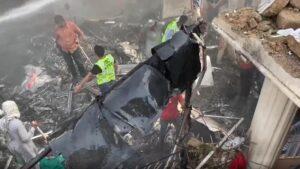 PIA Plane Crashed in Karachi.
