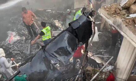 PIA plane crashes minutes before landing in Karachi, 60 dead