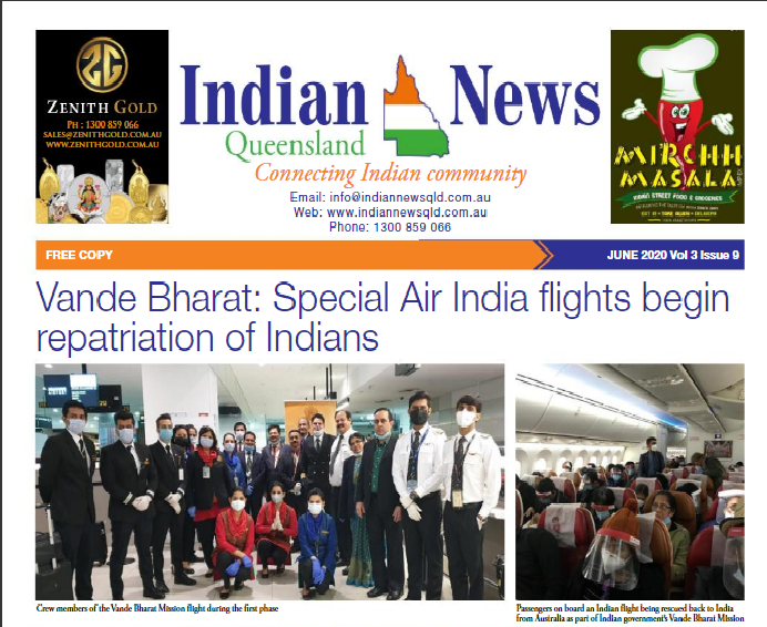 Indian News Queensland – June 2020 Vol 3 Issue 9