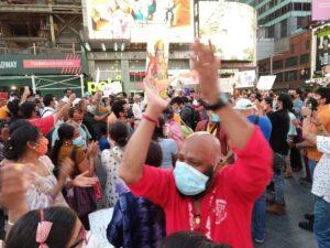 Ayodhaya temple celebration in NY