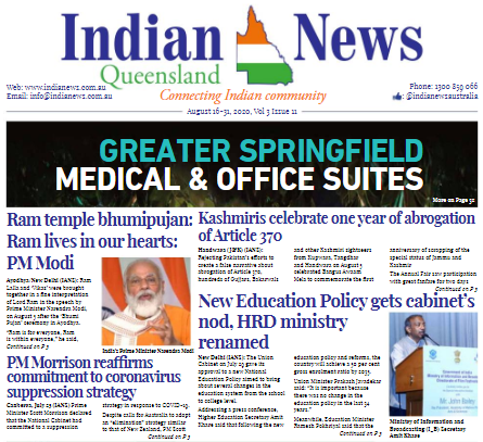 India News Queensland – Aug 22-Sept 6 – Vol 3 Issue 11