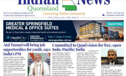 Indian News Queensland – Oct 22 -Nov 7 – Vol 3 Issue 15