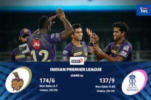 IPL 2020: Kolkata Knight Riders vs Rajasthan Royals Highlights