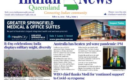 Indian News Queensland – Feb 1 – Feb 15 – Vol 4 Issue 3