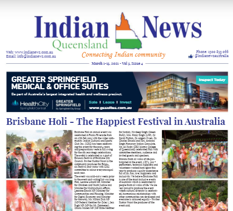 Indian News Queensland – Mar 1 – Mar 15 – Vol 5 Issue 4